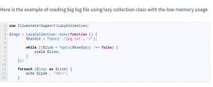 What's new in Laravel 6? Lazy collection