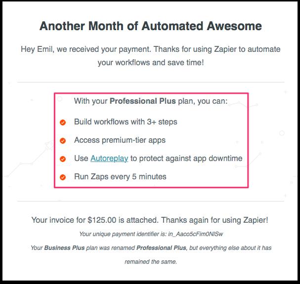 Zapier - increase customer retention value (CLV)