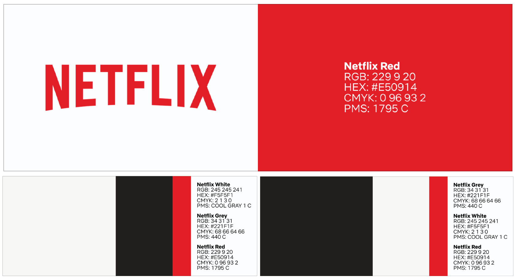 graphic design guide for small business, why is graphic design important for any business, Netflix Brand Style Guide