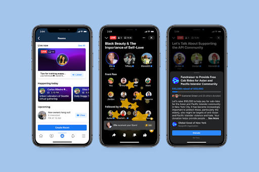 facebook-podcasts, create an app like clubhouse, create a Clubhouse like app